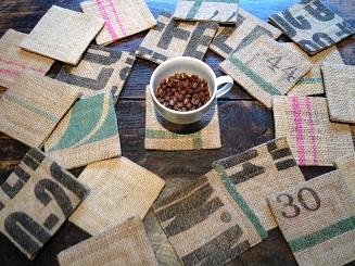【メール便発送】Bean'sオリジナルコーヒー麻袋柄物いろいろコースター