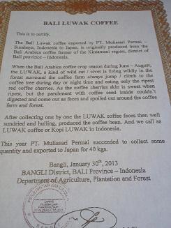 コピルアック50g  幻のコーヒーと言われる独特の香味を放つインドネシア産コピルアック