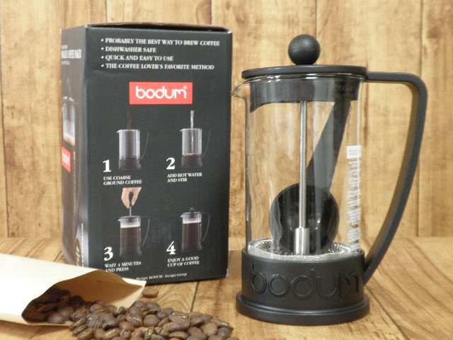 BRAZIL フレンチプレスコーヒーメーカー,0.35L ブラック